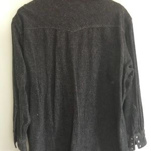 Rock Creek Ranch Shirts - VINTAGE Heavyweight Pearl-snap Western Shirt